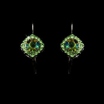 Earring 1003 Silver Green