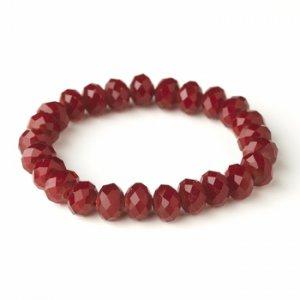 Ruby 10mm Stretch Bracelet 7613