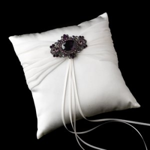 Ring Pillow 11 with Antique Amethyst Brooch 935