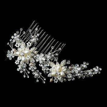 Silver Freshwater Pearl, Swarovski Crystal, Bead & Rhinestone