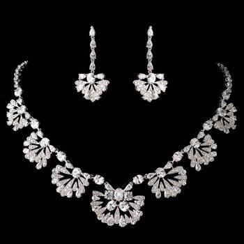 Antique Rhodium Great Gatsby Style Jewelry Set 1588