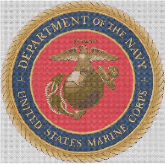 Marine Corps Logo Cross Stitch E-Pattern