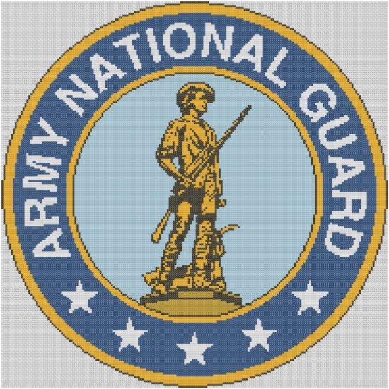 National Guard Logo Cross Stitch E-Pattern