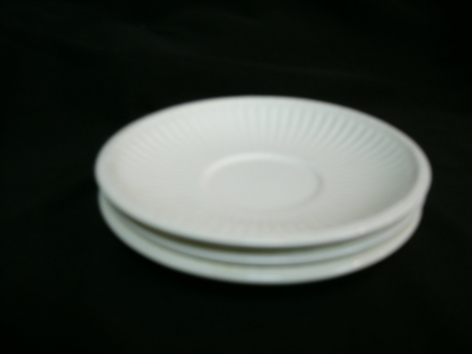 Wedgwood China Cup Saucers Edme Pattern Set of 3 Off White Color 5 3/4 Inches