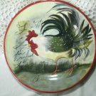 Le Rooster Salad Plate, Susan Winget Country Farm Design 8 5/8 Inches by Certified International