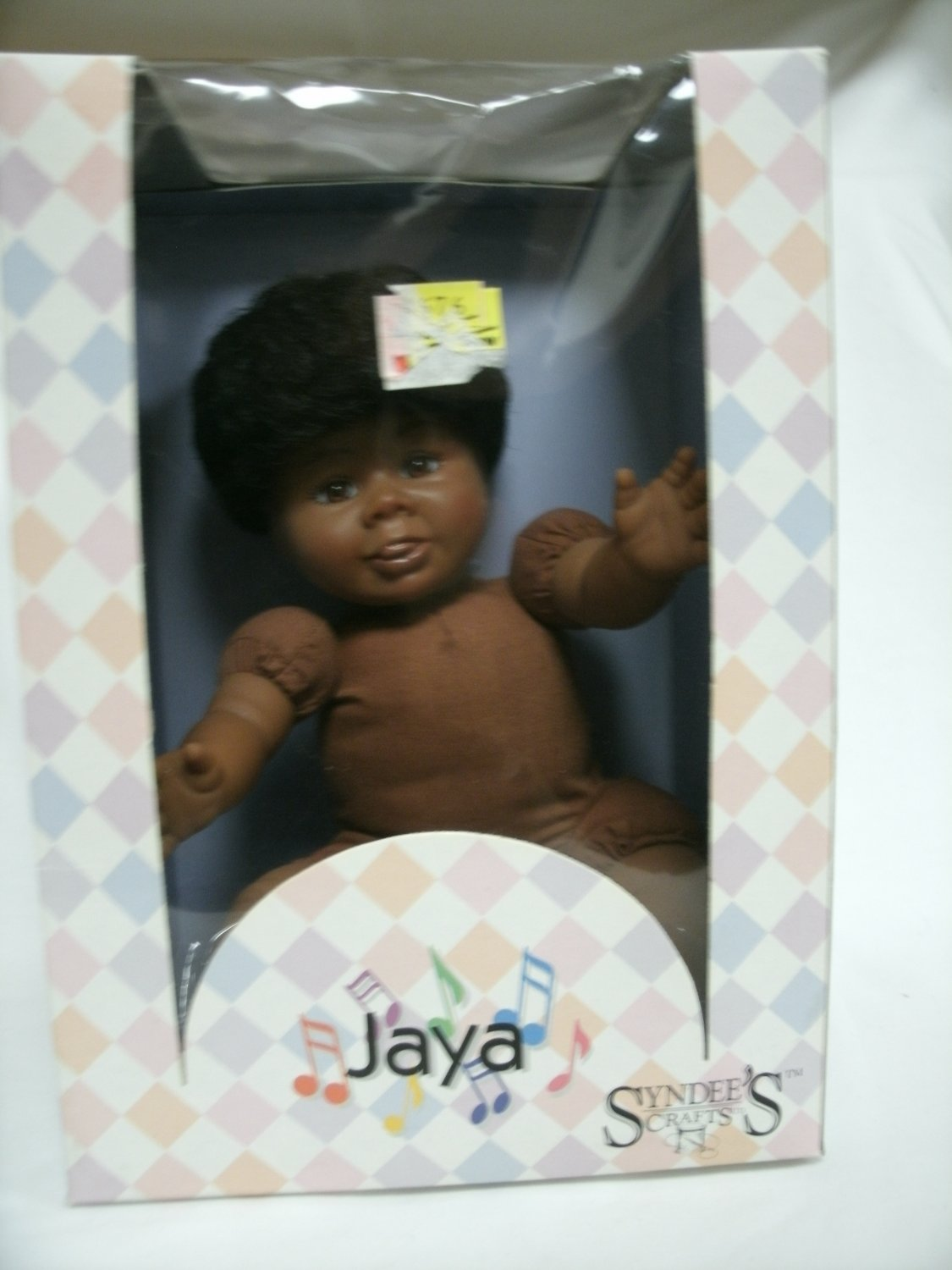 Syndee's Jaya Heirloom Craft Doll 7 1/2 Inches Sitting Cloth Body 1990's