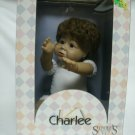 Syndee's Charlee Heirloom Craft Doll 7 1/2 Inches Sitting Cloth Body 1990's