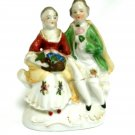 Porcelain Figurine Of Colonial Couple Made in Occupied Japan 4 6/8 Inches