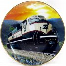 "Burlington Northern Railroad 8 1/4"" Plate Limited Edition Commemorative For Locomotive SD70MAC 1994"