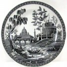 Spode Archive Collection Dinner Plate Georgian Series Titled Rome 10 1/4 Inches Black and White