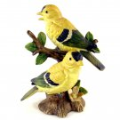 Lefton Goldfinch Birds Figurine Number 02203 Yellow 4 1/2 Inches Hand Painted
