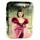 Gone With The Wind Music Box Scarlett's Resolve 9583B WS George Fine China 3 3/4 Inches 1991