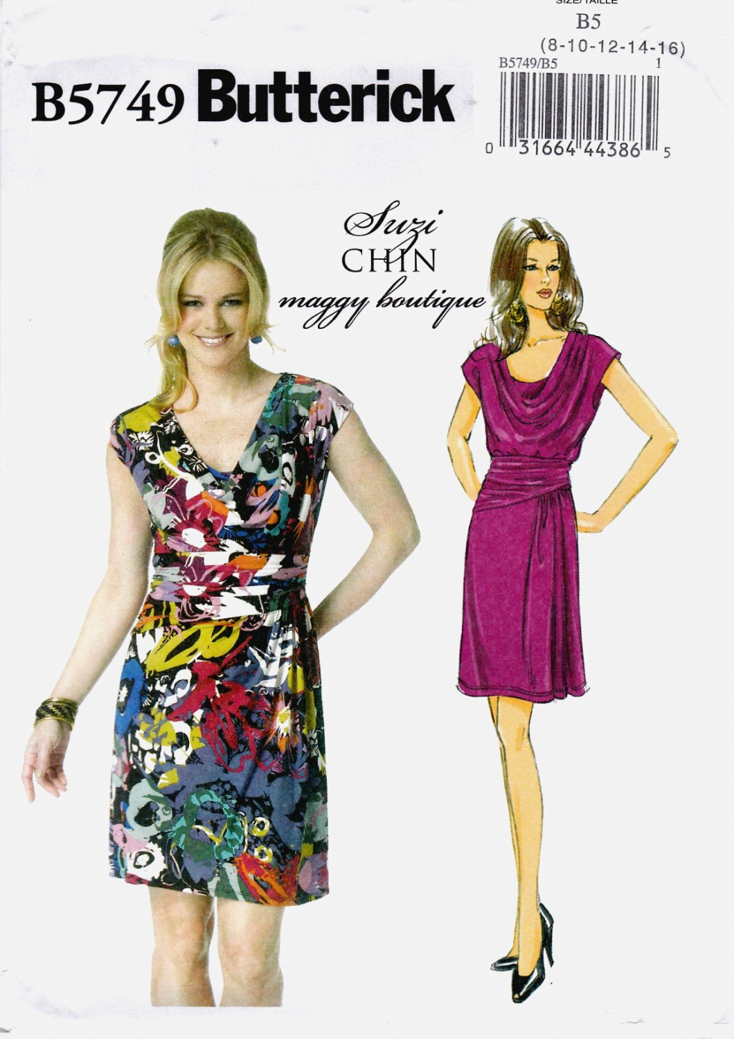 Butterick B5749 Misses Dress Part Lined Sewing Pattern Sizes 8-10-12-14-16