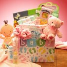 Baby of  Mine Gift Basket  for Girls in Pink