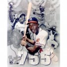 MILWAUKEE BRAVES- HANK AARON COLOR COLLAGE