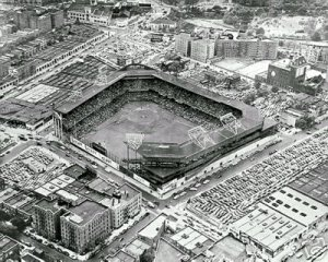 BROOKLYN DODGERS- EBBETS FIELD AIREAL VIEW
