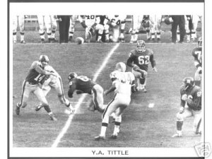NEW YORK GIANTS- Y.A. TITTLE vs CLEVELAND BROWNS