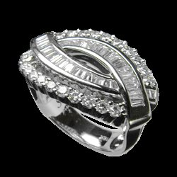 1.44 Cts. Diamond 18k White Gold Ring