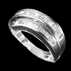 0.85 Cts. Diamond 18k White Gold Ring