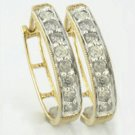 0.50 Cts. Diamond 10k Gold Earrings