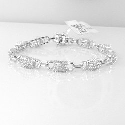 2.00 Cts. Diamond 18k White Gold Bracelet