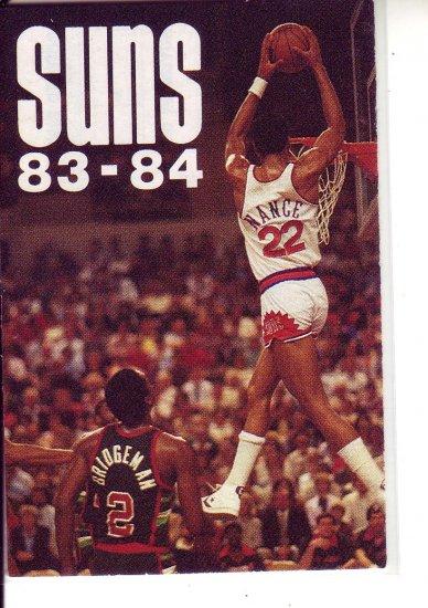 1983-84 PHOENIX BASKETBALL SCHEDULE