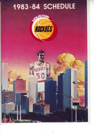 1983-84 HOUSTON ROCKETS BASKETBALL SCHEDULE