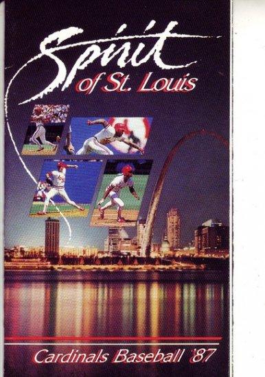 1987 ST LOUIS CARDINALS BASEBALL SCHEDULE