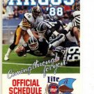 1988 TORONTO ARGONAUTS CFL FOOTBALL SCHEDULE