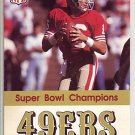1990 SAN FRANCISCI 49ERS FOOTBALL SCHEDULE JOE MONTANA