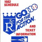 1982 KANSAS CITY ROYALS BASEBALL SCHEDULE