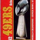 1982 SAN FRANCISCI 49ERS FOOTBALL SCHEDULE