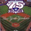 1998 NEW YORK YANKEES BASEBALL SCHEDULE