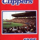 1985 COLUMBUS CLIPPERS BASEBALL SCHEDULE