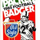 1985 GREEN BAY PACKERS BADGERS DUAL FOOTBALL SCHEDULE