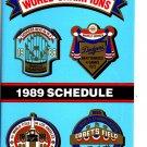 1989 LOS ANGELES DODGERS BASEBALL SCHEDULE