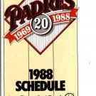1988 SAN DIEGO PADRES BASEBALL SCHEDULE