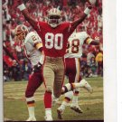 1992 SAN FRANCISCI 49ERS FOOTBALL SCHEDULE JERRY RICE