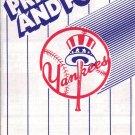 1988 NEW YORK YANKEES BASEBALL SCHEDULE