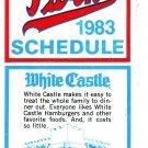 1983 MINNESOTA TWINS BASEBALL SCHEDULE