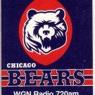 1987 CHICAGO BEARS FOOTBALL SCHEDULE DICK BUTKUS