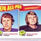 FRAN TARKENTON KEN STABLER 1975 TOPPS CARD # 208
