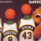 1982-83 SEATTLE SUPERSONICS BASKETBALL SCHEDULE