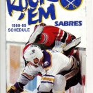 1988-89 BUFFALO SABRES HOCKEY SCHEDULE