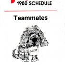 1980 PHILADELPHIA PHILLIES BASEBALL SCHEDULE