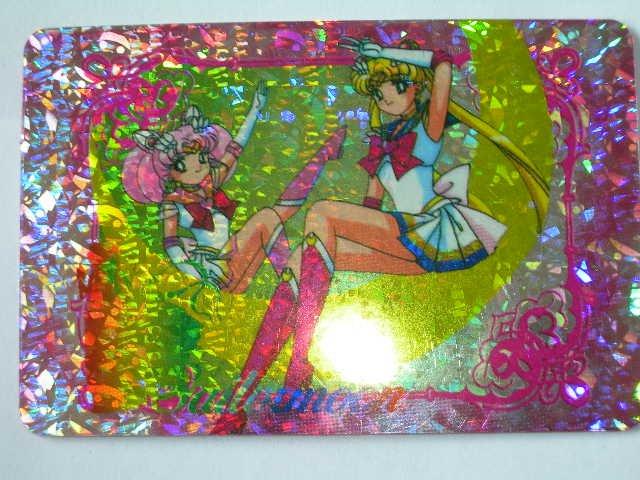 Sailor Moon Sticker Card CHIBIMOON + SAILORMOON