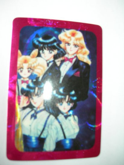 Sailor Moon Manga Sticker Card saturn neptune mercury