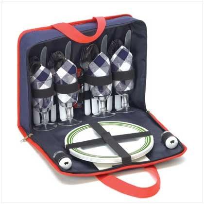 Picnic Set with Tote Bag Holder  #38077