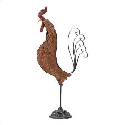 Metal Sculpture Rooster  #39447