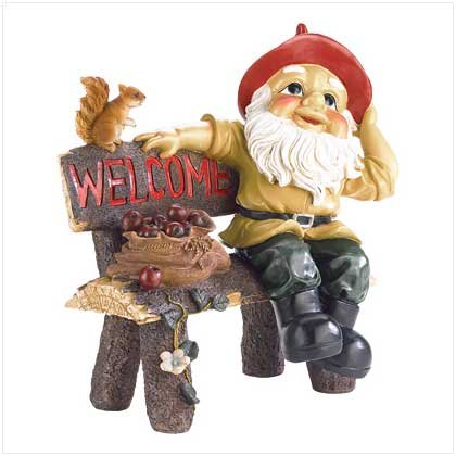 Garden Gnome Greeting Sign  #39265
